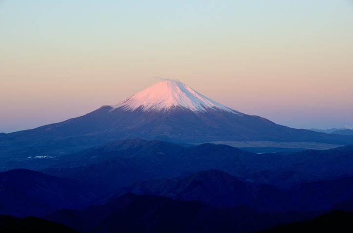 塔ノ岳からの朝の富士山