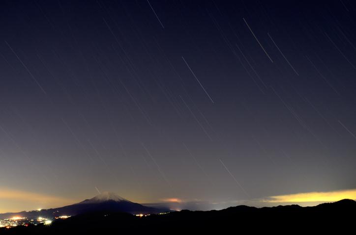 塔ノ岳頂上からの星