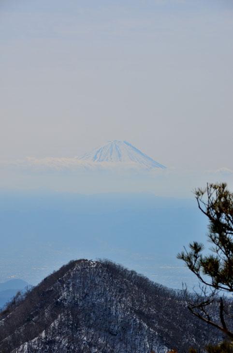 金ヶ岳山頂、富士山