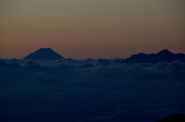 大天井岳、富士山