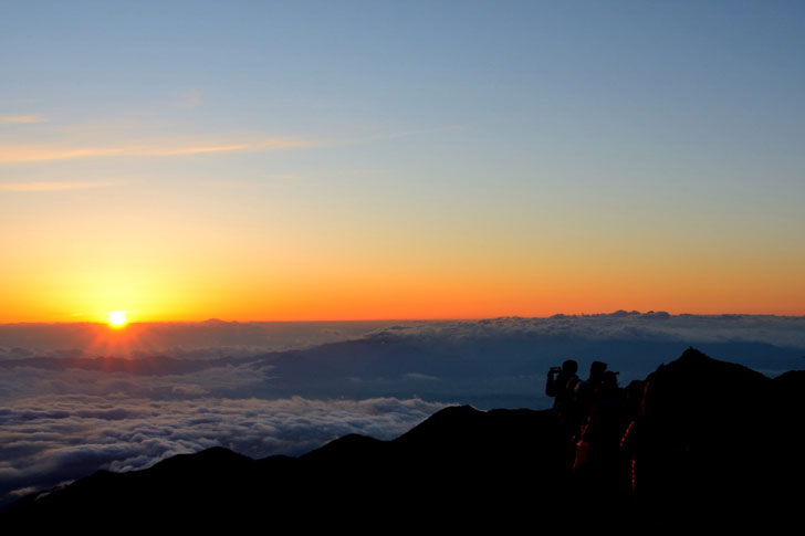 日の出、大天井岳