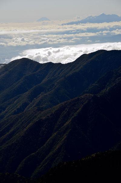 燕岳、富士山