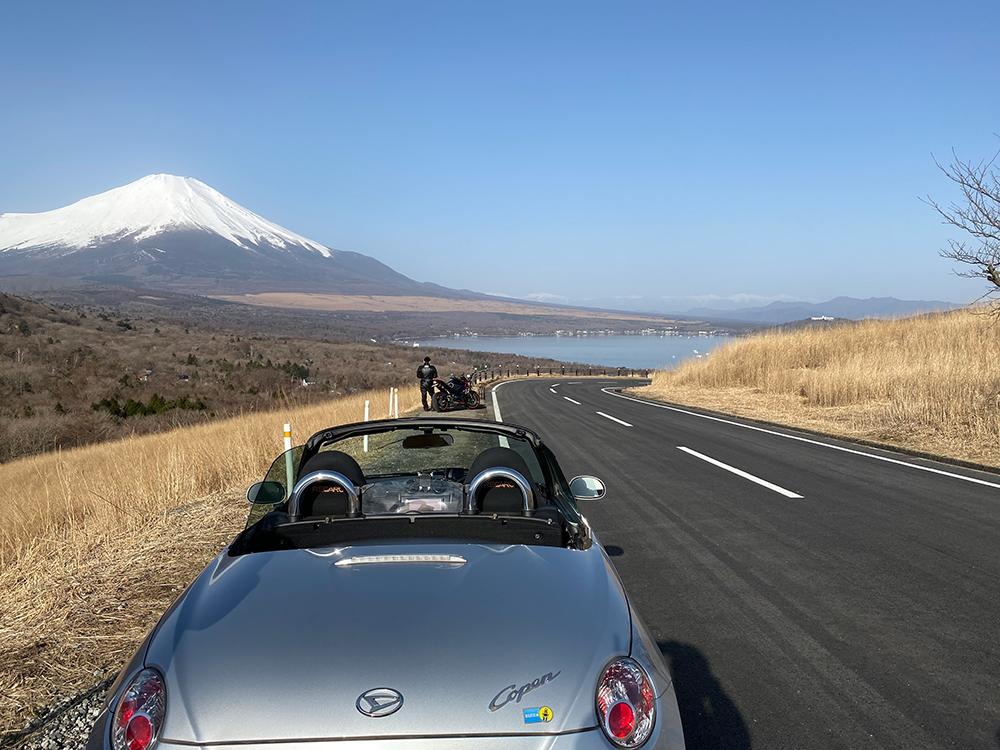 富士山、カプチーノ、山中湖